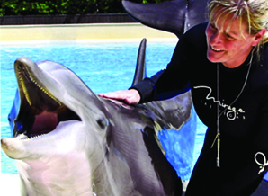 Kerrie Searle (Animal Communicator) and Duchess the Dolphin