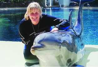 Kerrie Searle (Animal Communicator) and Maverick the Dolphin